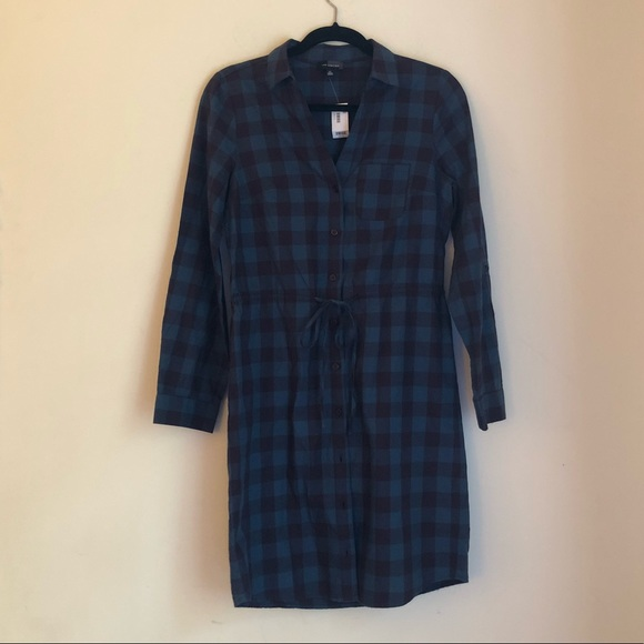The Limited Dresses & Skirts - NWT The Limited Plaid Shirt Dress